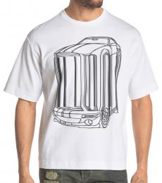 White Teoria Melted Car T-Shirt