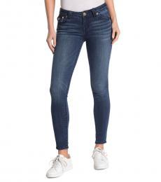 True Religion Dark Blue Halle Big Flap Jeans