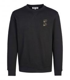 Black logo patch sweatshirt