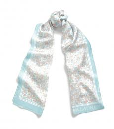 Ralph Lauren Pale Aquamarine Diana Silk Scarf