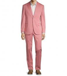 Pink Slim Fit Stretch Suit