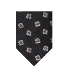 Black Foulard Tie