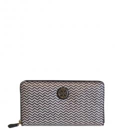 Navy Kerrington Zip Continental Wallet