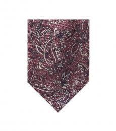 Michael Kors Pink Textural Paisley Tie