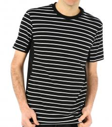 Neil Barrett Black Striped Crewneck T-Shirt
