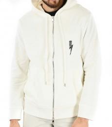 Neil Barrett White Embroidered Back Jacket