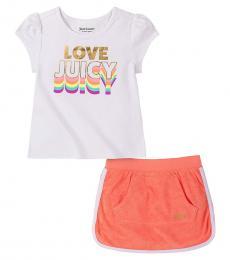 2 Piece Top/Scooter Skirt Set (Little Girls)