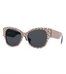 Red Beige Cat Eye Sunglasses