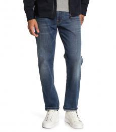 Lucky Brand Dark Blue Leebert Straight Jeans