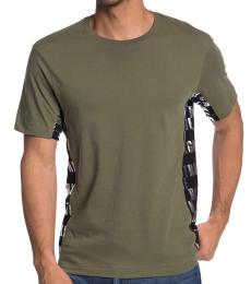 Olive Logo Panel T-Shirt
