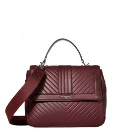 Karl Lagerfeld Merlot Brianna Top-Handle Small Satchel