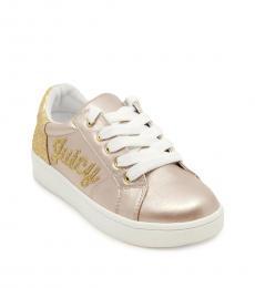 Juicy Couture Girls Blush Arcata Satin Sneakers