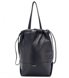Saint Laurent Navy Harlem Medium Bucket Bag