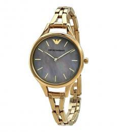 Emporio Armani Gold Logo Watch