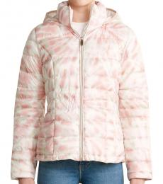 Calvin Klein Pink Hooded Packable Jacket