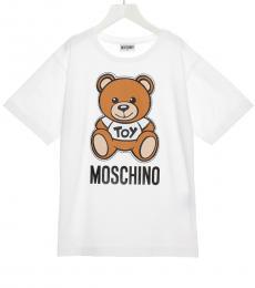 Moschino Little Girls White Teddy T-Shirt