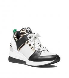 Michael Kors Black White Georgie Sneakers