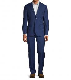 Ben Sherman Dark Blue Slim Fit Stretch Suit