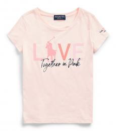 Ralph Lauren Girls Pink Pony Jersey T-Shirt