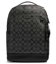 Coach Charcoal/Black Graham Large Backpack