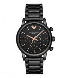 Emporio Armani Black Chronograph Modish Watch