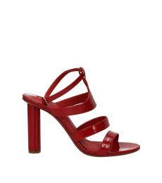 Salvatore Ferragamo Red Trevi Strappy Heels