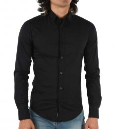 Armani Jeans Black Slim Fit Shirt