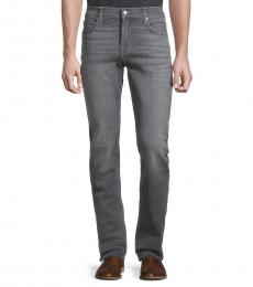 7 For All Mankind Grey Slim-Fit Straight Jeans
