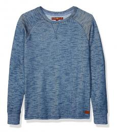 Boys Steel Blue Long Sleeve T-Shirt