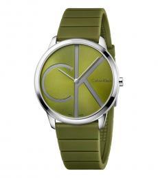 Calvin Klein Green Minimal Green Dial Watch