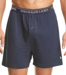 Ralph Lauren Navy Blue Pack of 6 Knit Boxers