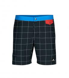 Karl Lagerfeld Navy Blue Box Logo Swim Trunks