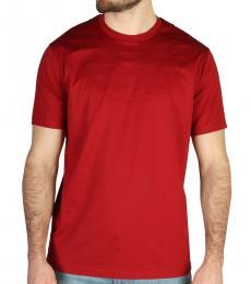 Emporio Armani Red Logo Embossed T-Shirt
