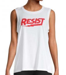 Rebecca Minkoff White Red Graphic Tank Top