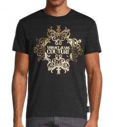 Black Metallic Logo T-Shirt