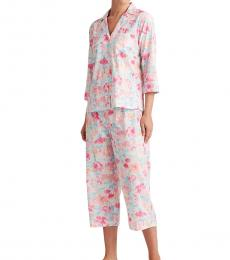 Ralph Lauren Multi Floral Print Capri Sleep Set