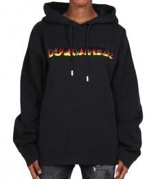 Black Hooded Logo Sweatshirt