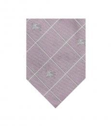 Burberry Light Pink Check Tie