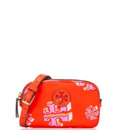 Tory Burch Red Printed Mini Crossbody Bag