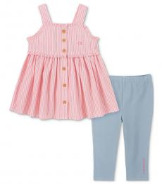 Calvin Klein 2 Piece Tunic/Capri Leggings Set (Baby Girls)