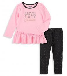 Juicy Couture 2 Piece Top/Leggings Set (Baby Girls)