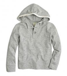 J.Crew Little Boys Heather Granite Henley Hoodie