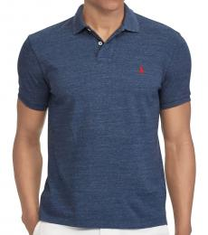 Blue Heather Interlock Standard Fit Polo