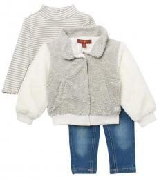 7 For All Mankind 3 Piece Jacket/Top/Jeans Set (Baby Girl)