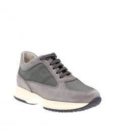 Grey Green Iconic Sneakers