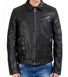 Black Full Zip Leather Jacket