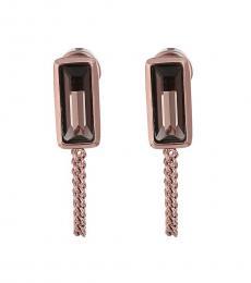 Gold Topaz Stone Delicate Earrings