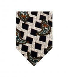Black Dapper Box Print Tie