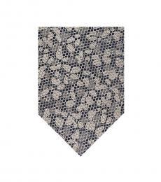 Michael Kors Taupe Abstract Botanical Mesh Tie