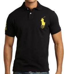 Ralph Lauren Black Custom Fit Big Pony Polo